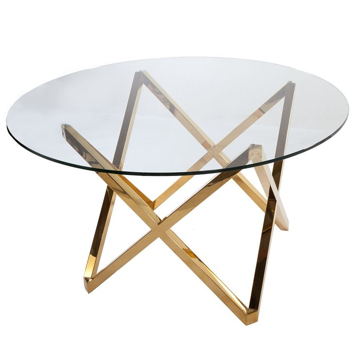 Galvin Dining Table   Gold