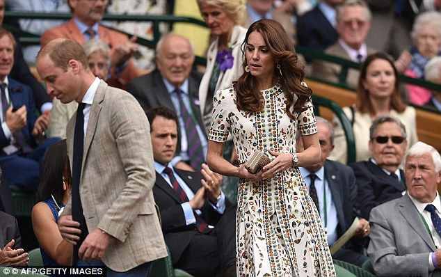For Andy Murray's Wimbledon final on 10 July, Kate wore Alexander McQueen's £2,300 'Obsession' print which features little butterflies, jewels, trinkets and even the signature McQueen skull