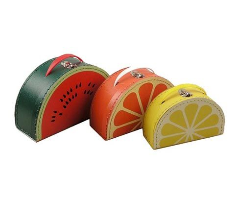 Fruit Suitcase set of 3 - for my Punky! <3