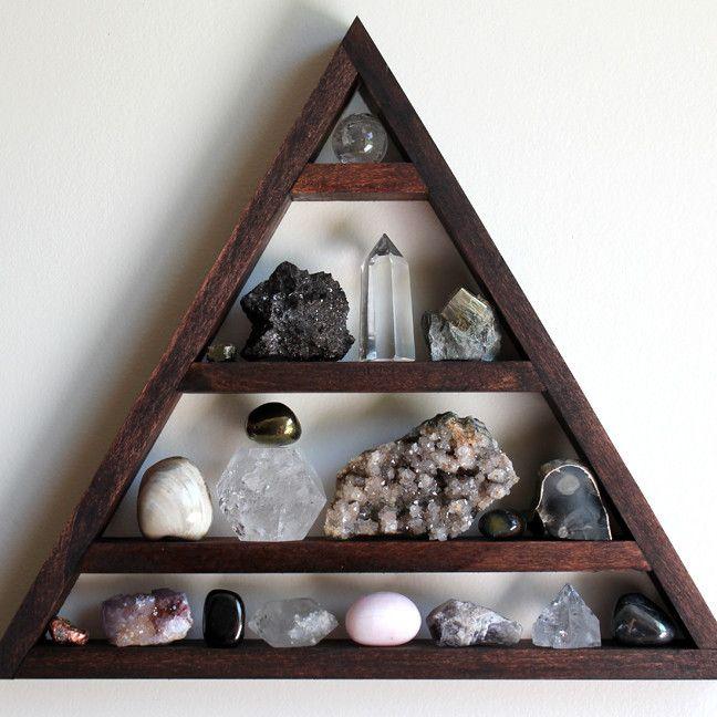 Moon Balance Shelf with Quartz Crystal Sphere