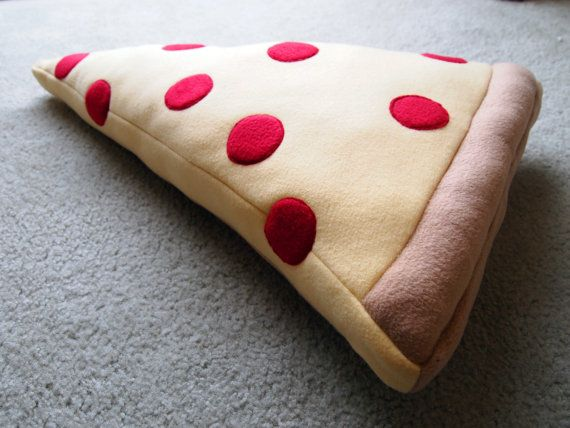 Custom toppings--Extra Large Pizza Pillow on Etsy, $50.00