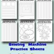 Sewing machine practice sheets - via @Craftsy