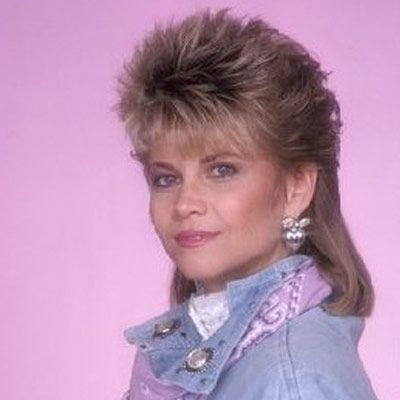 Markie Post - spiky mullet