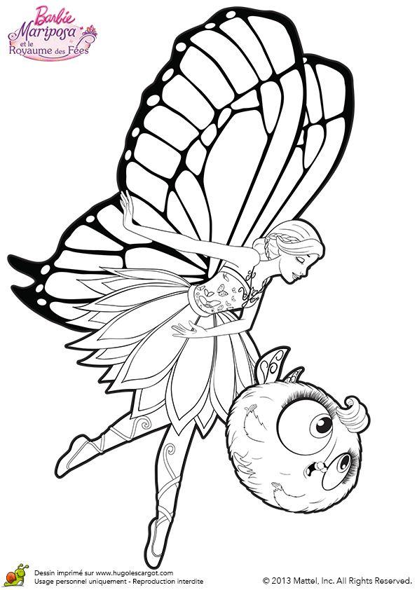 La belle Mariposa est en train de faire sa révérence avec Zee à ses côtés, à colorier.