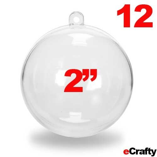 12 fillable clear acrylic ball ornaments domes 2 diy for Clear plastic balls for crafts