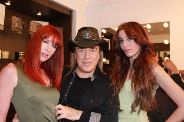 Jose Eber with models at Wella Style Event