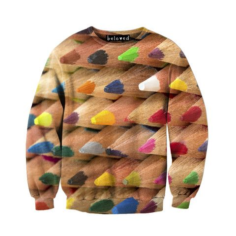 Beloved Shirts Colored Pencils Unisex Sweatshirt.  Art