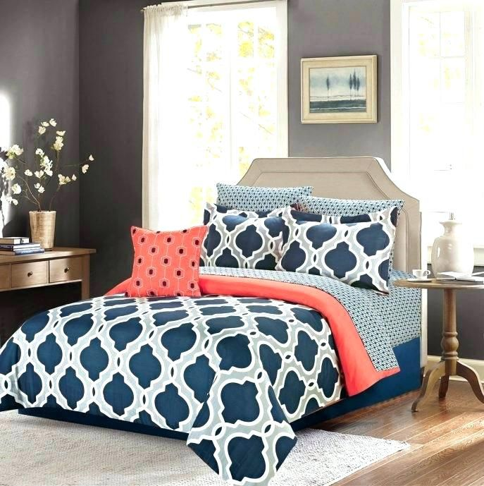 Gray And Coral Bedding Coral And Teal Bedding Sets Large Size Of