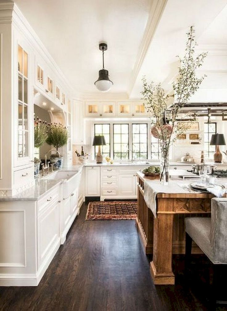 80 Awesome Rustic Farmhouse Kitchen Cabinets Decor