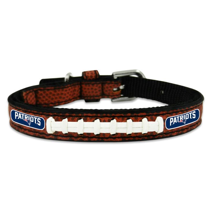 New England Patriots Football Game Ball Leather Pet Collar