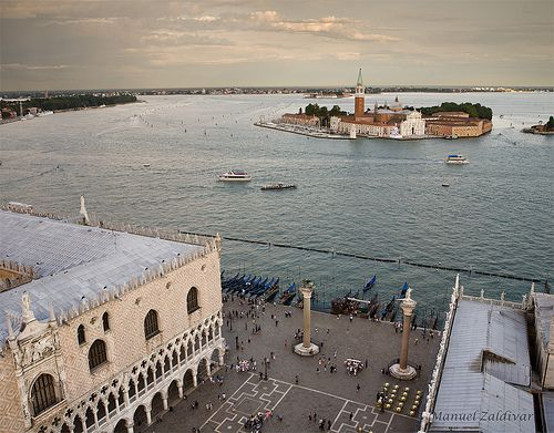 Plaza San Marcos con la isla de San Giorgio Maggiore al fondo, VENECIA VII, ITALIA