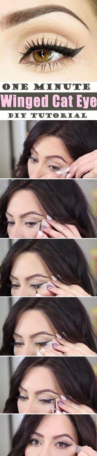 One Minute Surprising Winged Cat Eye DIY Tutorial