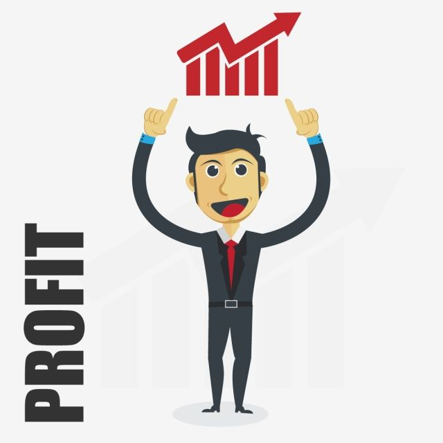 Businessman Vector Illustration With Profit Progress Concept Arrow Aspirations Business Png And Vector With Transparent Background For Free Download