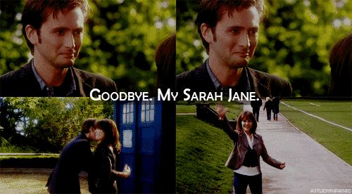I haven't watched the OLD Doctor Who to truly get the background of Sarah Jane Smith, but it's clear she was something special. (GIF.)
