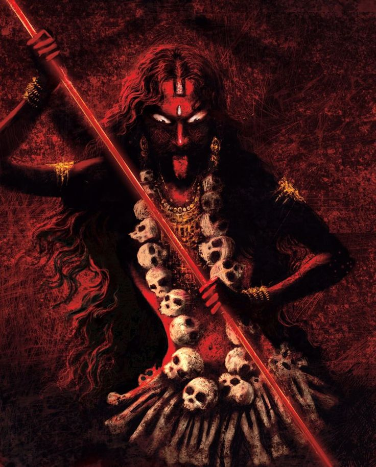 """Kali is one of the many forms of Shakti. Maha Kaali is the fiercest of all goddesses of Hinduism. The word Kali has its roots in the Sanskrit word """"Kaal"""", which means time. And nothing escapes from time. Goddess Kali is sometimes referred as the goddess of death. But actually Kali brings the death of the ego. Even in the scriptures, she has killed demons but not anyone else. Kali is also not associated with Yama (the Hindu God of Death). Kali is considered a form of mother too."""