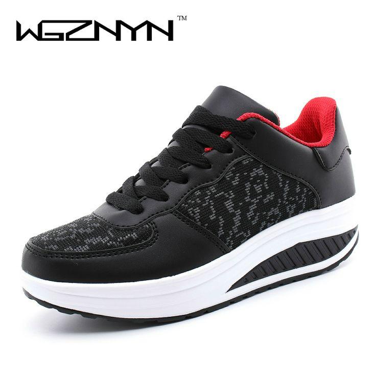 WGZNYN 2017 Swing Breathable Woman Flats Chaussure Femme Platform Shoes for  Women Canvas Zapatos Mujer Ladies Footwear ffab7ebdf36b