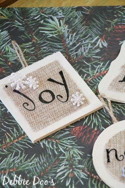 Handmade Christmas ornaments - Debbiedoo's