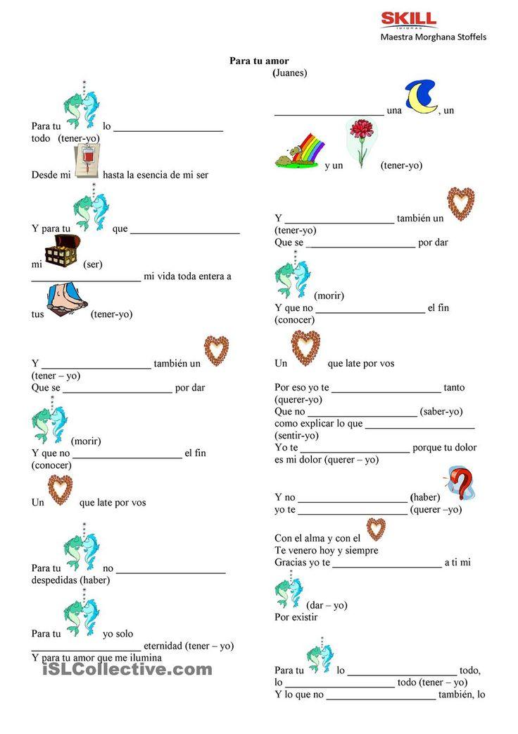 Juanes y los verbos irregulares en Presente de Inidicativo