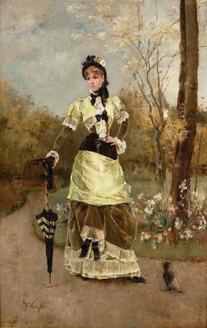 Alfred Stevens - La Parisienne 1880: Art, Paris, 1880 S, Paintings, Belgian