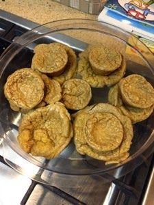 Egg fast cinnamon muffin
