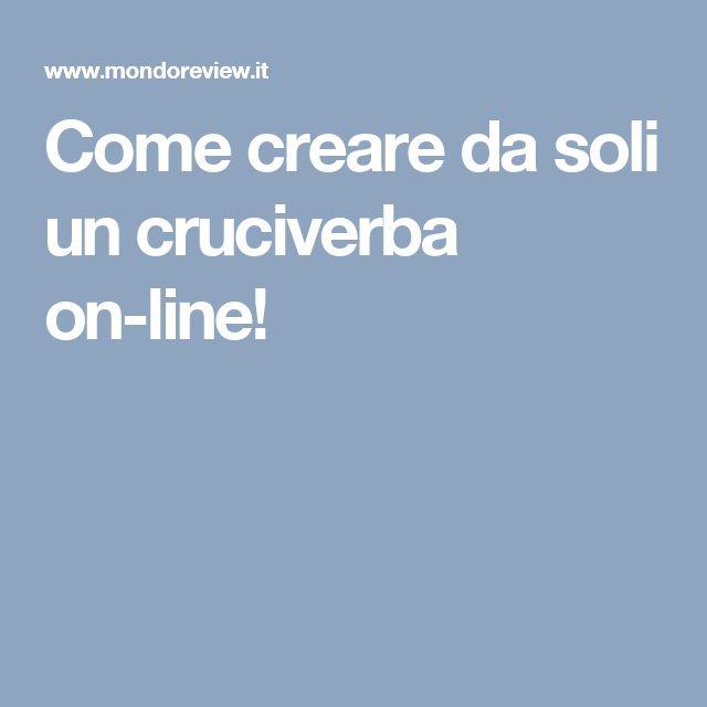 Come creare da soli un cruciverba on-line!