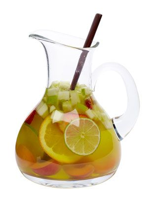 Tequila Sangria! Mix 1 bottle sparkling wine with 2 cups lemon-lime soda, 1 cup silver tequila, ½ cup triple sec, and sliced fruit.