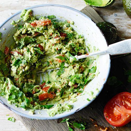 Waterkersguacamole - lekker met tortillachips- jamie oliver