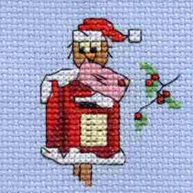Christmas Post Owl Cross Stitch Kit: Cross stitch (Mouseloft, 014-H35stl)