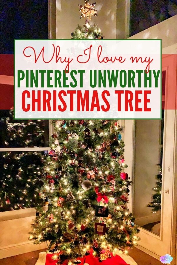 My Pinterest Unworthy Christmas Tree May Look Like Nothing Special At First Glance But The Sentimental Meaning Christmas Tree Christmas Christmas Decorations