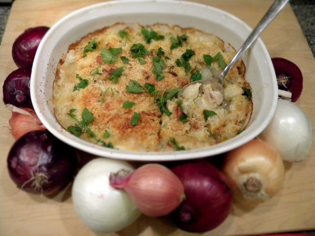 Gratin, Onions and Recipe on Pinterest