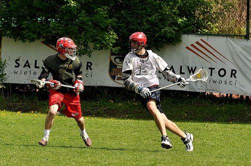 Mecz lacrosse'a w Krakowie na stadionie Juvenii.   www.lakros.me || www.krakowdragons.pl
