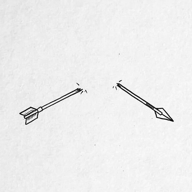 So today was this kind of day. #illustration #illustrator #drawing #draw #daily #arrow #broken #half #simple #art #sketch
