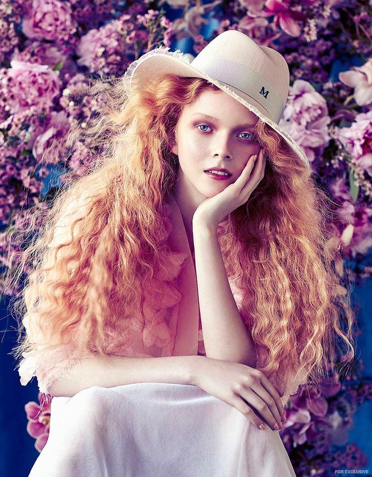 Maison Michel Pink Lace Hat from Christine, Nevenka Flower Jacket, Simone Rocha Slip Skirt from Cose Ipanema