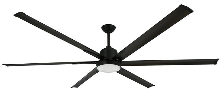 "This is a huge 84"" sexy modern ceiling fan, the titan! You can learn more about it here. I love the look of big industrial ceiling fans. http://bestindustrialfans.com/large-industrial-ceiling-fans/"