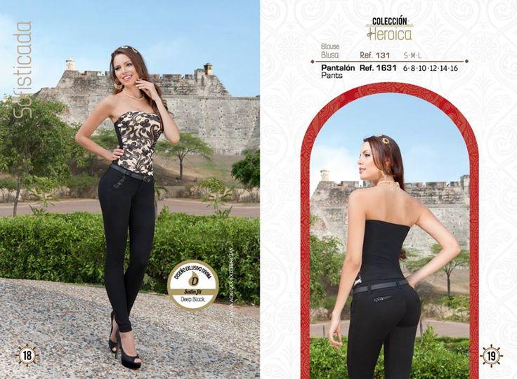 El negro es un color formal y elegante, prueba con este look para verte Divina.  ¡Haz tu pedido ya!  Pantalón tallas: 6, 8, 10, 12, 14 y 16. Ref: 1631 Blusa tallas: S-M-L Ref: 131   Divina Mujer, tú nos inspiras...