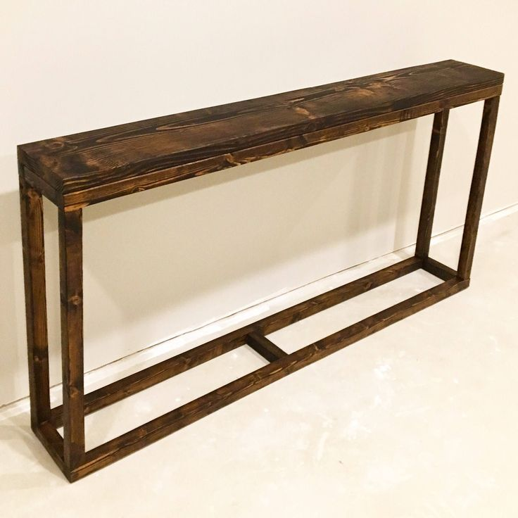 Long Narrow Console Table To Put Behind Sofa Against A Wall Great To Replace Traditional End Tables In Diy Sofa Table Narrow Console Table Narrow Sofa Table