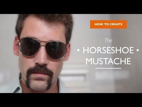 How to create the Horseshoe Mustache. - YouTube