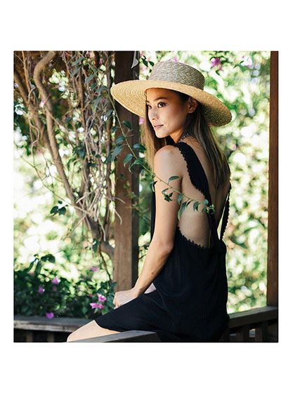 Prettiest Instagrams of the Week: Jamie Chung's black sundress with a straw hat