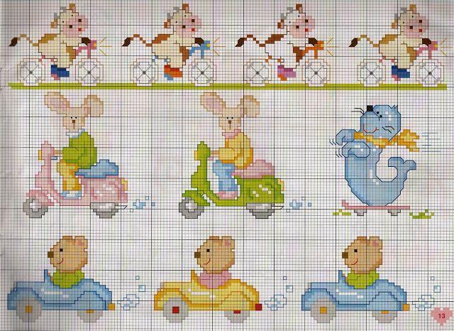 Χειροτεχνήματα: Κεντητές κουβέρτες για μωρά / Cross stitch baby bl...