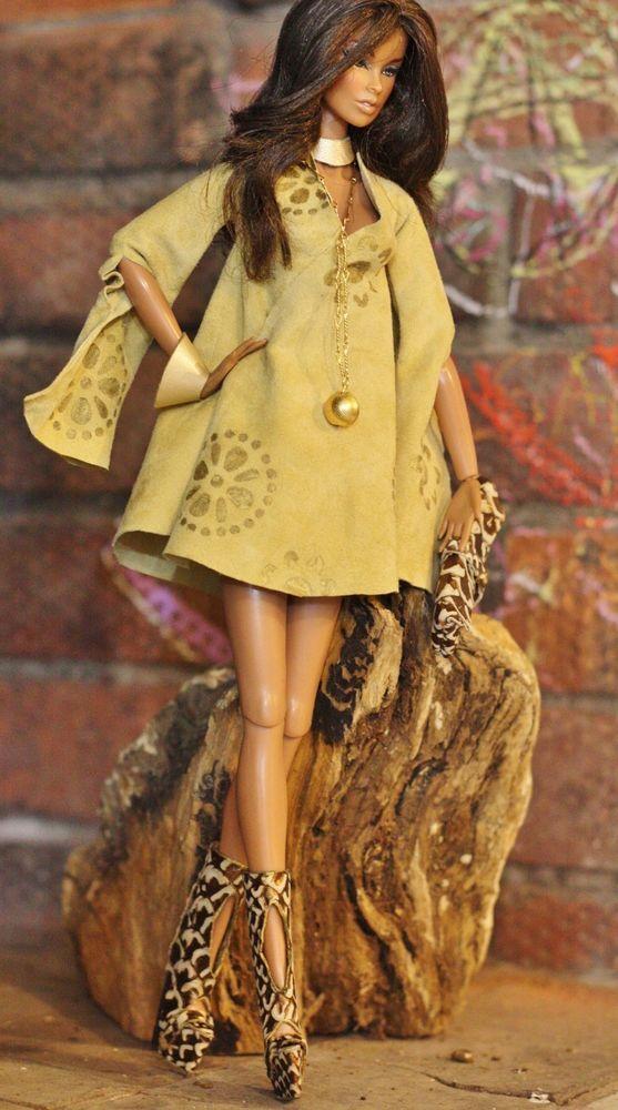dollsalive fashion royalty,FR2 ,R-EVOLUTION Beige outfit,leather shoes,bag