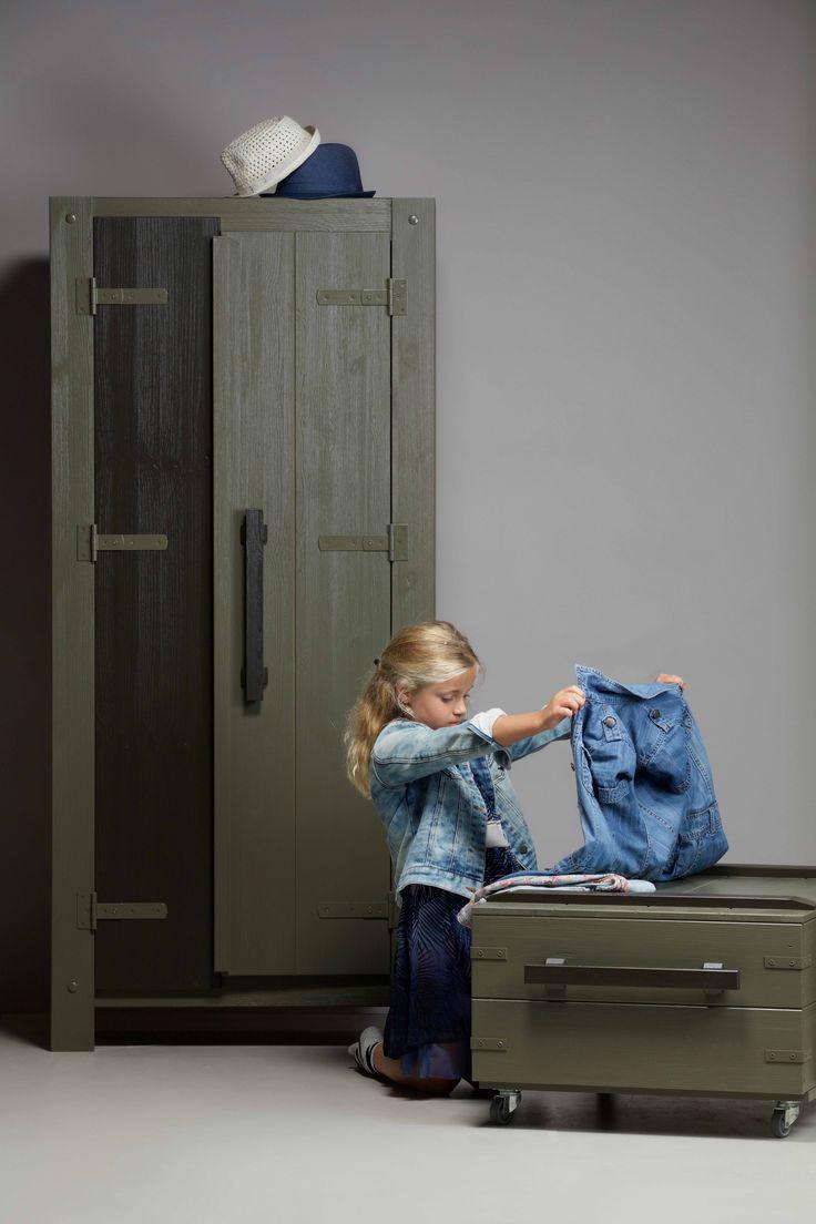 Derk speelgoedkist & kast | playbox & wardrobe by WOOOD #woood #wardrobe #playbox
