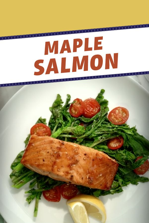 This recipe has 2 of Canadians favourite things: Maple Syrup and Salmon