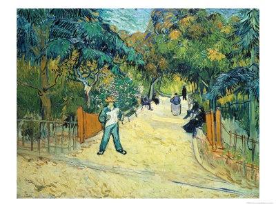 VanGough - Entrance to the Public Gardens in Arles, c.1888