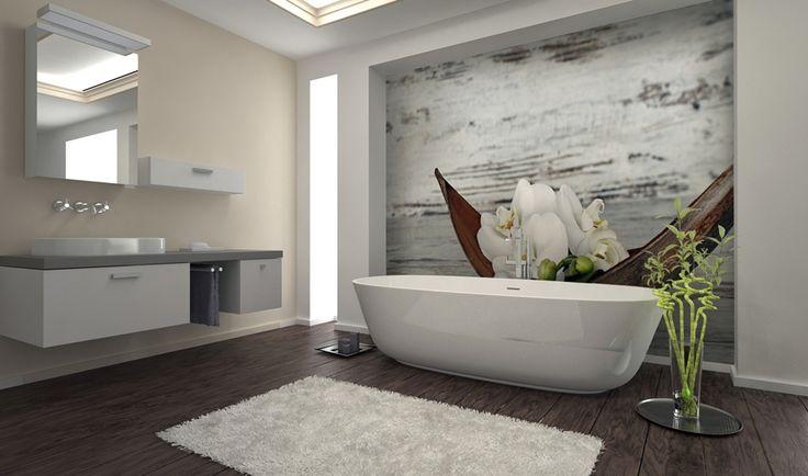Laminowana tapeta deKEA w łazience