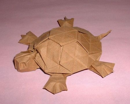 origami tortoise. Tons of other great animals here too ...