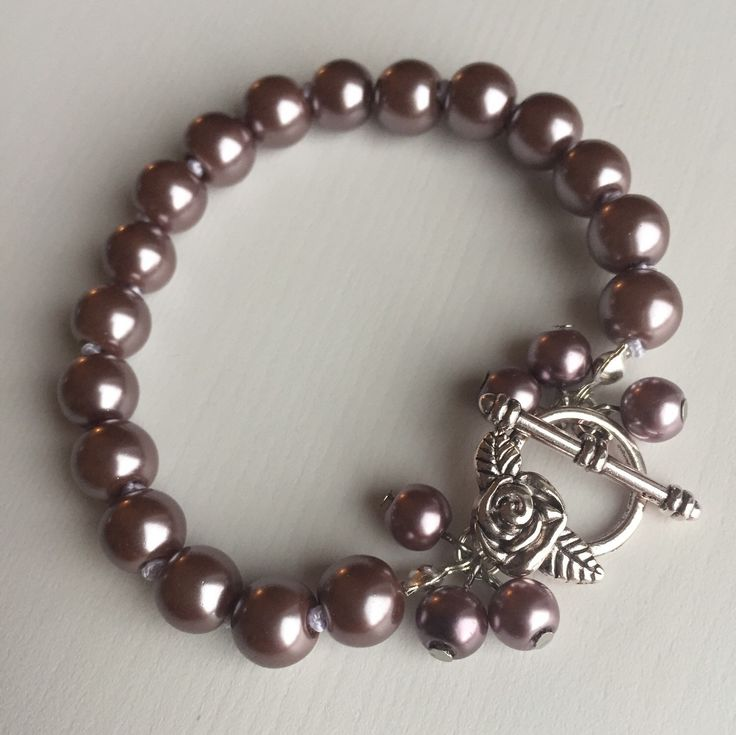 Rose Bracelet Pale Purple by MrsGillmore on Etsy https://www.etsy.com/listing/256075944/rose-bracelet-pale-purple