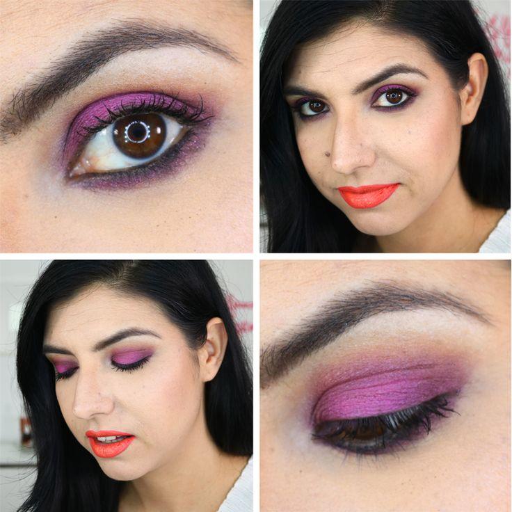 Hot Pink and Orange Makeup