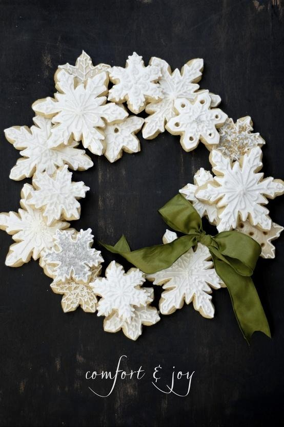 17 best CookiesWreaths images on Pinterest  Decorated cookies