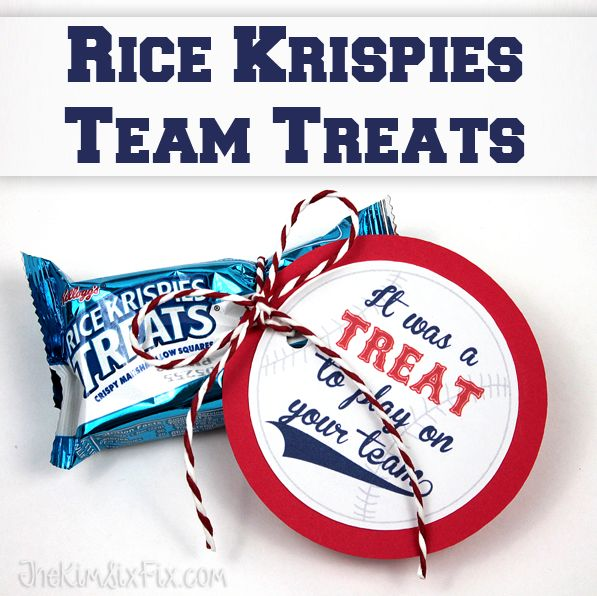 Rice Krispies Team Treats (with Free Printable Gift Tags ...
