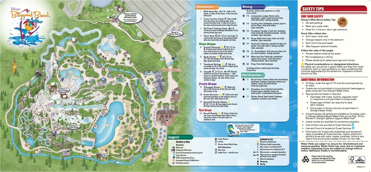 The New Blizzard Beach Map